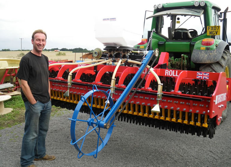 James Sharpe taking Delivery of his Multi Tooth Tiller roll