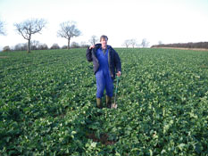 Duncan siddans really pleased with his rape drilled with Bristow's subsoiler tiller roll combination